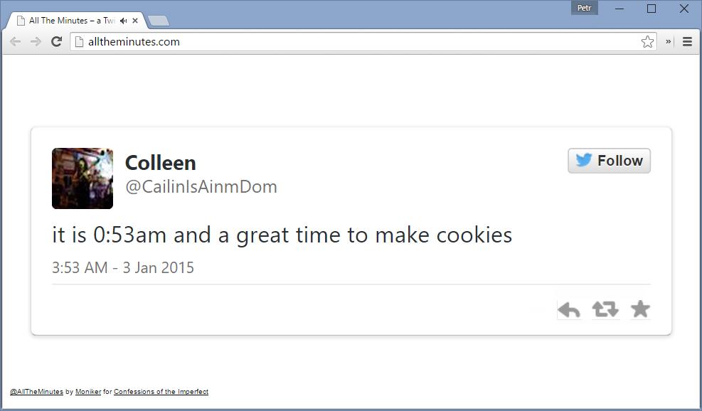 alltheminutes.com - необычные часы на основе сообщений из Твиттер